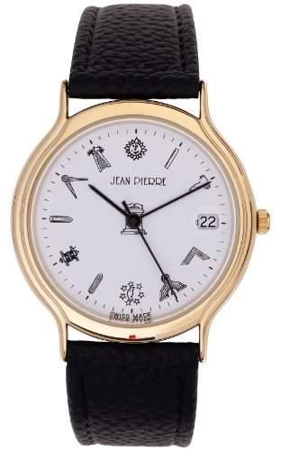 Herren Armbanduhr mit Gold Finish Freimaurersymbol