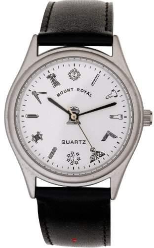 Herren Armbanduhr Freimaurer Chrome mit Freimaurersymbol ueberzogen