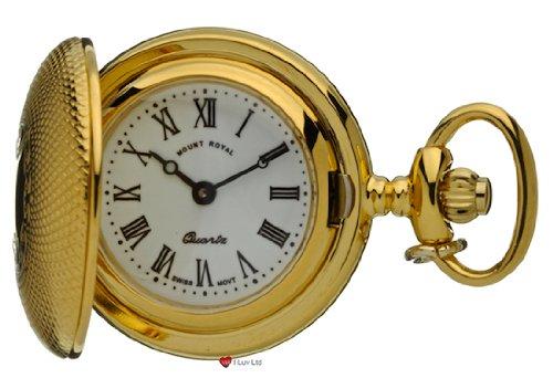 Klassische haengende Uhr gefraest Gold Finish Volle Hunter roemische Ziffern Quartz