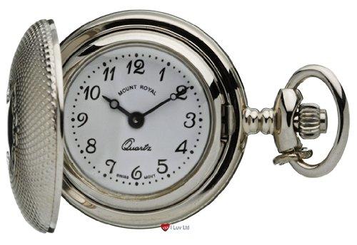 Klassische haengende Uhr gefraeste Chrom Finish Volle Hunter Quartz
