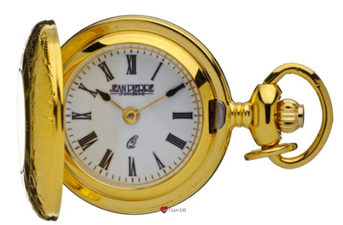 Klassische haengende Uhr vergoldet Haelfte Hunter roemische Ziffern Quartz