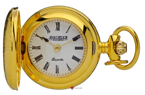 Klassische haengende Uhr vergoldet Volle Hunter roemische Ziffern a Quartz