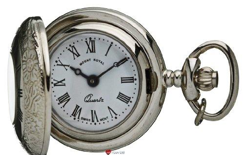 Klassische haengende Uhr Verziert Chrome Finish Haelfte Hunter roemische Ziffern Quartz