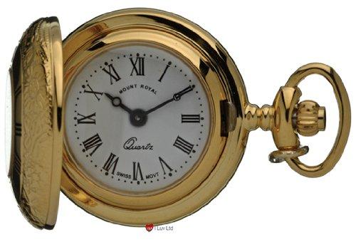 Klassische haengende Uhr Verziert Gold Finish Haelfte Hunter roemische Ziffern Quartz