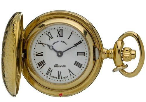 Klassische haengende Uhr Verziert Gold Finish Volle Hunter roemische Ziffern Quartz