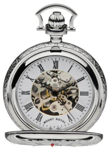 Skeleton Uhr verchromt Sehr Detaillierte Haelfte Hunter 17 Jewel Movement