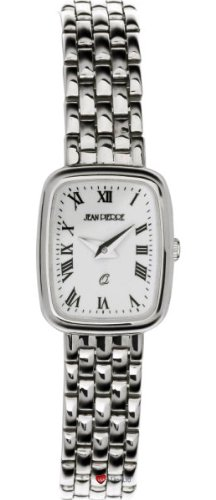 Damen Sterling Silber Rechteckig Praesentation Watch on Passende Armband