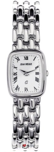 Damen Sterling Silber Rechteckig Praesentation Watch on Passende Solide Link Bracelet