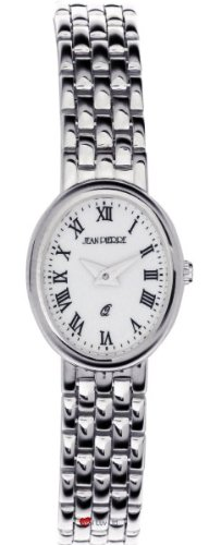 Damen Sterling Silber Oval Praesentation Watch on Passende Armband