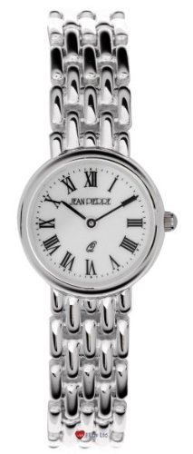 Damen Sterling Silber Rund Praesentation Watch on Passende Solide Link Bracelet