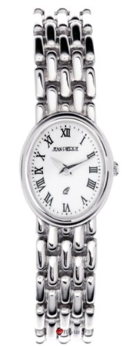 Damen Sterling Silber Oval Praesentation Watch on Passende Solide Link Bracelet