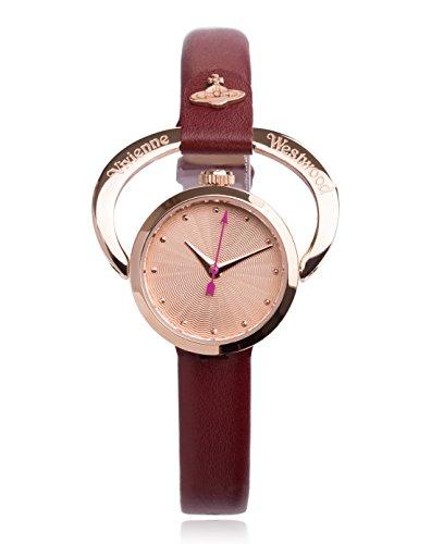Vivienne Westwood Damen Armbanduhr Horseshoe Analog Quarz Leder VV082RSRD
