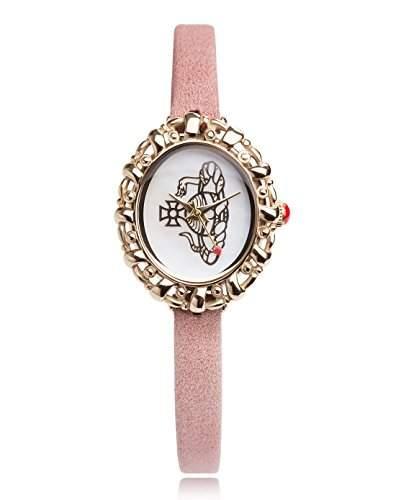 Vivienne Westwood Damen-Armbanduhr Rococo Analog Leder pink VV005CMPK