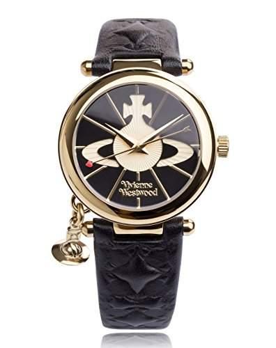 Vivienne Westwood Damen-Armbanduhr Orb II Analog Quarz VV006BKGD