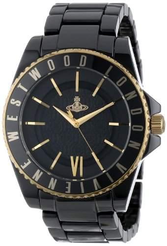 Vivienne Westwood Unisex-Armbanduhr Sloane Analog Keramik schwarz VV048GDBK