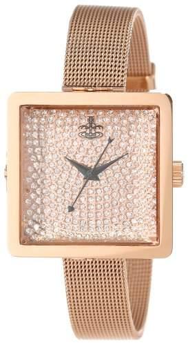 Vivienne Westwood Damen-Armbanduhr Lady Cube Analog Edelstahl gold VV053RSRS