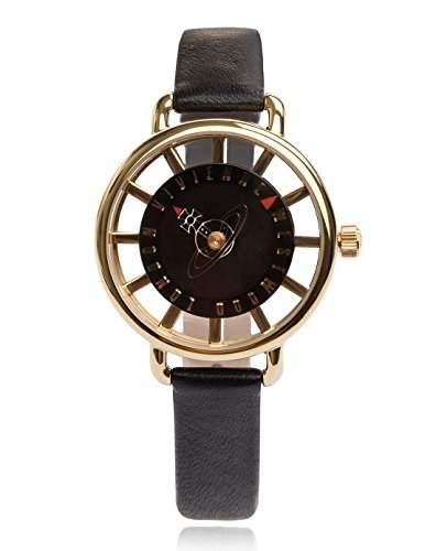 Vivienne Westwood Damen-Armbanduhr Tate Analog Leder schwarz VV055BKBK
