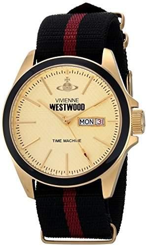 Vivienne Westwood Herren Armbanduhr Camden Lock II Analog Textil mehrfarbig VV068GDBK