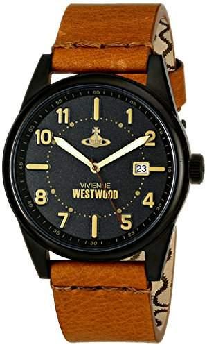 Vivienne Westwood Herren-Armbanduhr Butlers Wharf Analog Leder Braun VV079BKTN