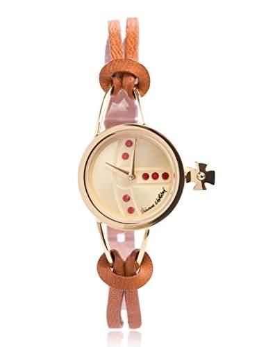Vivienne Westwood Damen-Armbanduhr Chancery Analog Quarz Leder VV081GDBR