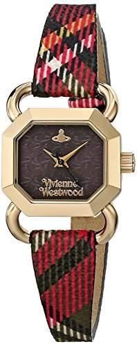 Vivienne Westwood Damen-Armbanduhr Ravenscourt Analog Quarz Leder VV085BKBR