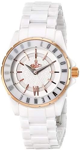 Vivienne Westwood Damen-Armbanduhr Sloane II Analog Quarz Keramik VV088RSWH