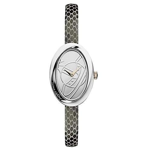 Vivienne Westwood Vv098slbk Die Wendung Silber & Schwarz Leder Damenuhr Leather