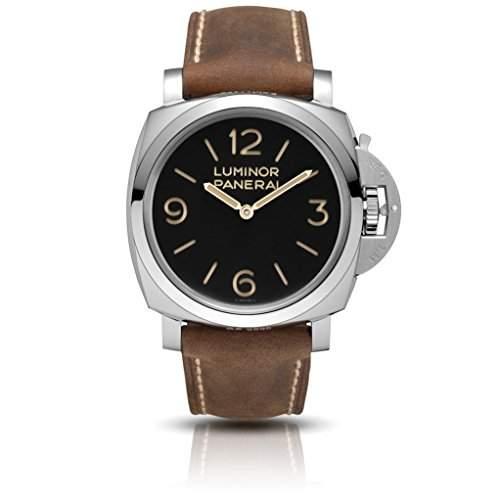 Panerai Luminor 1950 Herren 47mm Automatikwerk Braun Leder Armband Uhr PAM00372