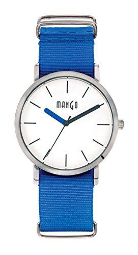 MANGO Time A68376 9S0I Armbanduhr Damen Armband aus Nylon Farbe Blau