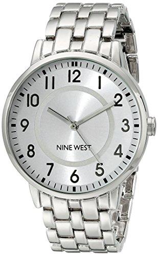 Nine West Damen NW 1689svsb gut ablesbares silberfarbenes Armband Armbanduhr