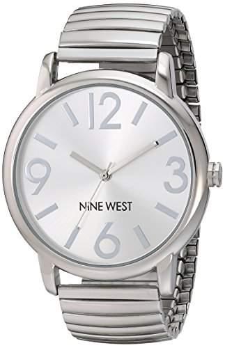 Nine West WomenHerren-Armbanduhr 17251562 Analog-Anzeige und Silber-Edelstahl-ArmbandNW 1665SVSB