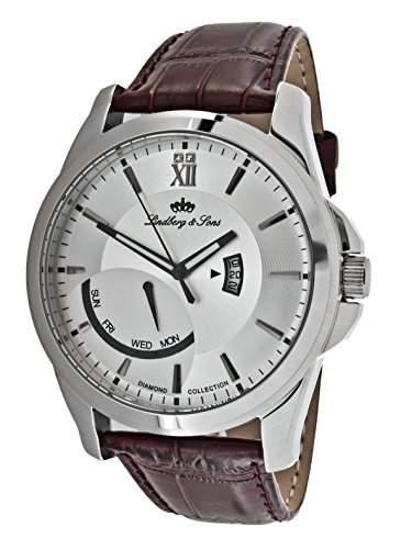 Lindberg&Sons Herren-Armbanduhr Analog Quarz Leder LS111191