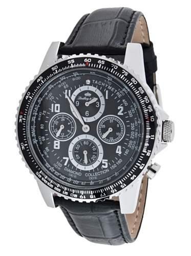 Lindberg&Sons Herren-Armbanduhr Analog Automatik Leder LS11175B6