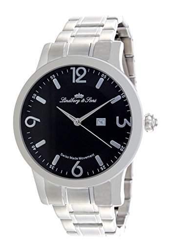 Lindberg & Sons Herren-Armbanduhr Quarz Analog Edelstahl - LSSM201