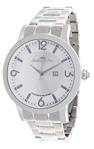 Lindberg & Sons Herren-Armbanduhr Quarz Analog Edelstahl - LSSM201B