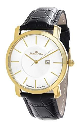 Lindberg&Sons Uhr mit schweizer Quarzuhrwerk dunkelblau 43 mm