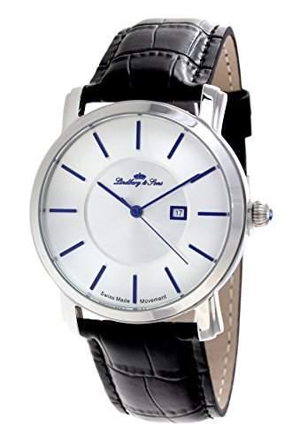 Lindberg & Sons Herren-Armbanduhr Quarz Analog Leder Schwarz - LSSM84
