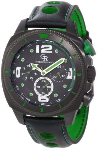 Guilio Romano Herren-Armbanduhr XL Pescara Analog Leder GR-2000-13-006