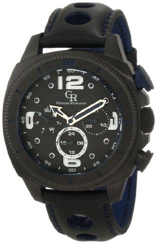 Guilio Romano Herren Armbanduhr XL Pescara Analog Leder GR 2000 13 003