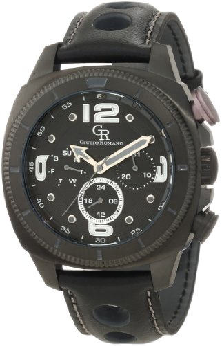 Guilio Romano Herren Armbanduhr XL Pescara Analog Leder GR 2000 13 011