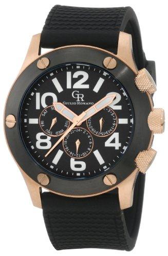 Guilio Romano Herren Armbanduhr XL Piemonte Analog Silikon GR 3000 09 007