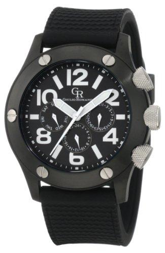 Guilio Romano Herren Armbanduhr XL Piemonte Analog Silikon GR 3000 13 007