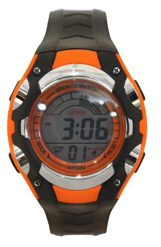 Waooh - Uhr - MingRui LCD 7018 Orange