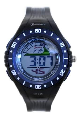 Waooh - Uhr - MingRui LCD 8020 Marine Blau