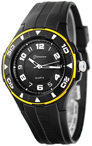 Unisex Armbanduhr MINGRUI mit 12h Ziffernblatt nickelfrei El Hintergrundlicht K23J88G 3