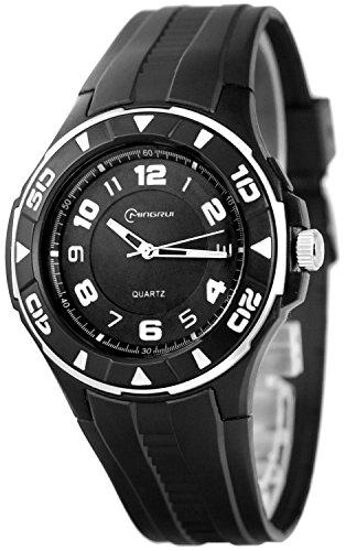 Unisex Armbanduhr MINGRUI mit 12h Ziffernblatt nickelfrei El Hintergrundlicht K23J88G 2