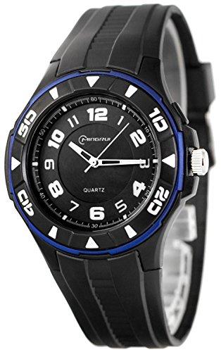 Unisex Armbanduhr MINGRUI mit 12h Ziffernblatt nickelfrei El Hintergrundlicht K23J88G 1