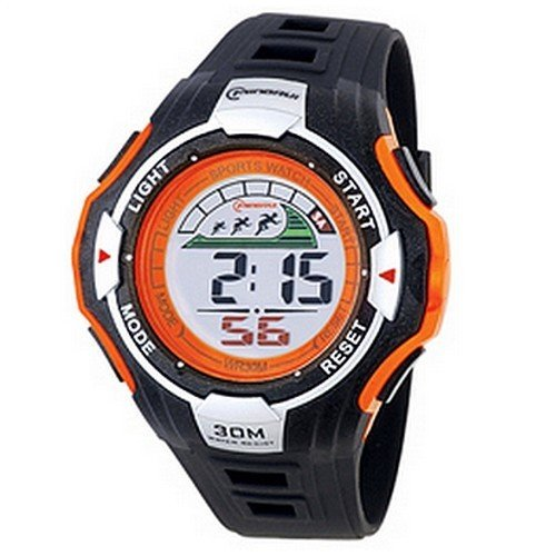 Herren Digital Armbanduhr Armband Kunststoff schwarz Zifferblatt rund Marke Mingrui mr8006