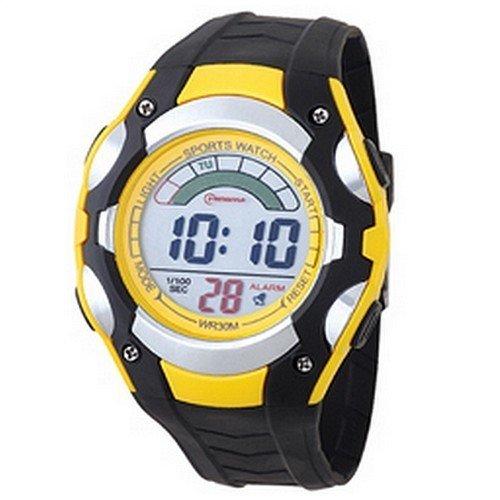 Herren Digital Armbanduhr Armband Kunststoff schwarz Zifferblatt rund Marke Mingrui mr8527