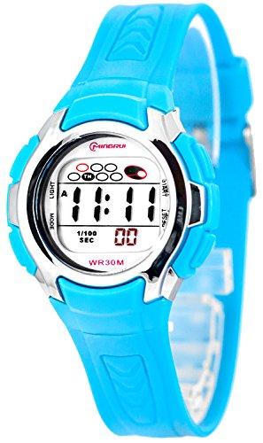 Kleine digitale Mingrui Armbanduhr fuer Damen und Kinder Alarm Stoppuhr Licht 0258 MR 4